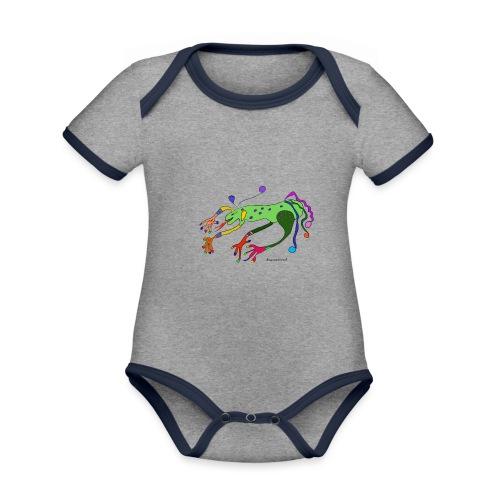 Kenzi der lustige Drachen - Baby Bio-Kurzarm-Kontrastbody