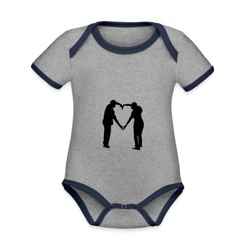 silhouette 3612778 1280 - Ekologisk kontrastfärgad kortärmad babybody
