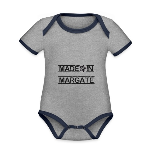 Made in Margate - Black - Organic Baby Contrasting Bodysuit
