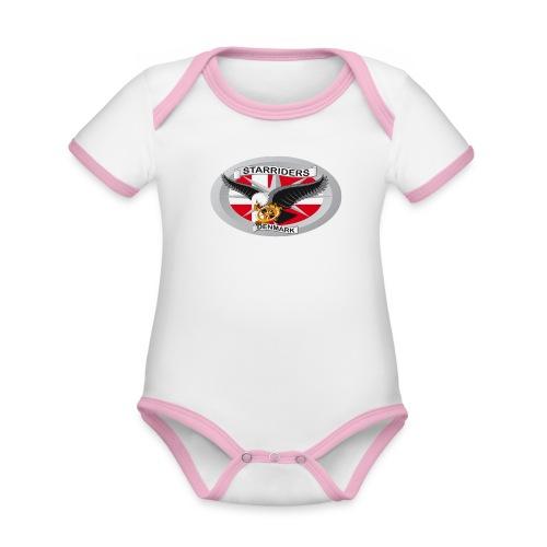 SR logo png - Kortærmet økologisk babybody i kontrastfarver