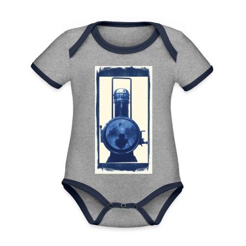 Lok Lantern - Vauvan kontrastivärinen, lyhythihainen luomu-body
