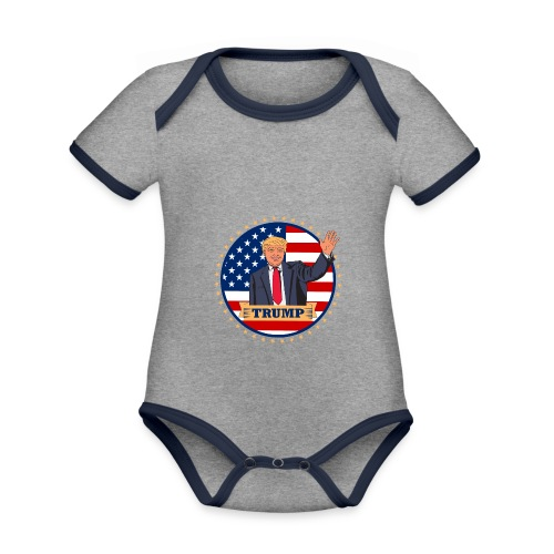 Trump - Baby Bio-Kurzarm-Kontrastbody