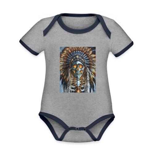 jefe indio - Body contraste para bebé de tejido orgánico