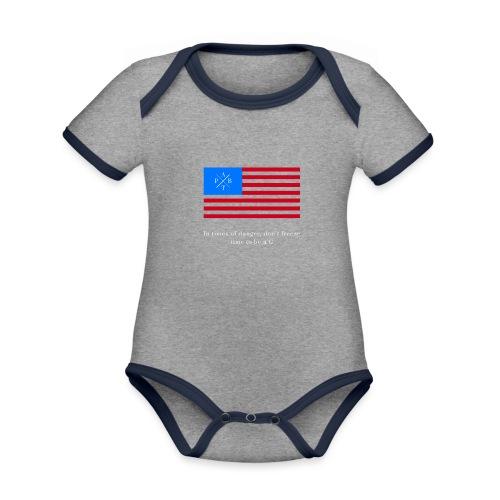 Transparent - Organic Baby Contrasting Bodysuit