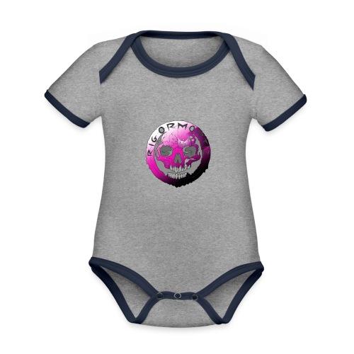 Rigormortiz Purple Design - Organic Baby Contrasting Bodysuit