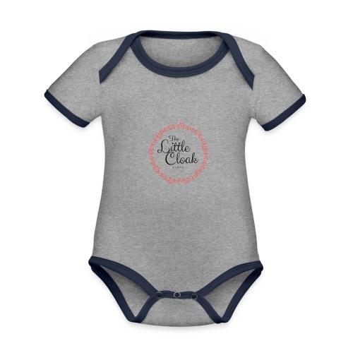 Little Clock - Body da neonato a manica corta, ecologico e in contrasto cromatico