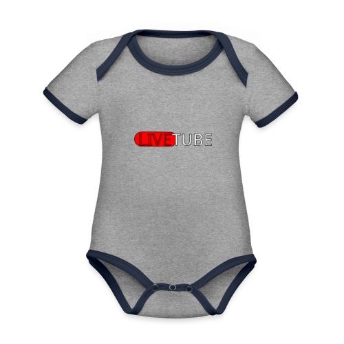 Livetube - Kortærmet økologisk babybody i kontrastfarver