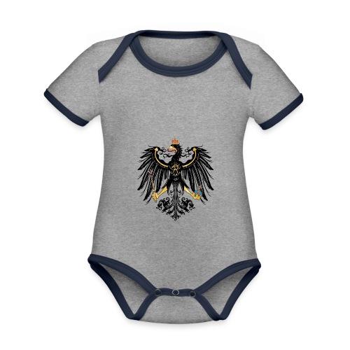 Preussischer Adler - Baby Bio-Kurzarm-Kontrastbody