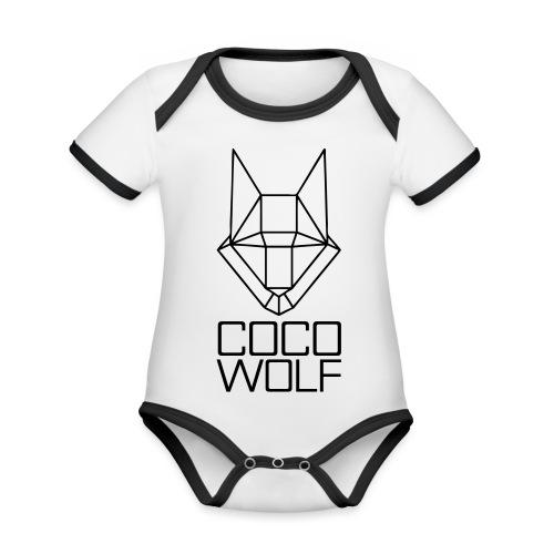 COCO WOLF - Baby Bio-Kurzarm-Kontrastbody