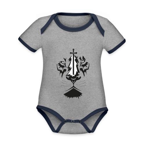 Lyon cruz - Body contraste para bebé de tejido orgánico