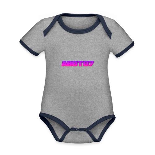 Abot07 - Ekologisk kontrastfärgad kortärmad babybody