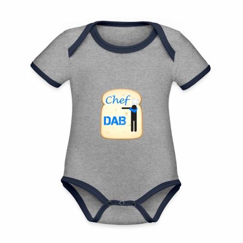 Dab Chef - Body da neonato a manica corta, ecologico e in contrasto cromatico