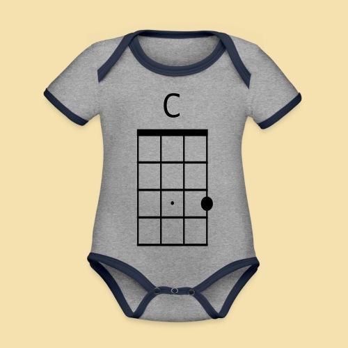 Ukulele C-Dur Akkordklein - Baby Bio-Kurzarm-Kontrastbody