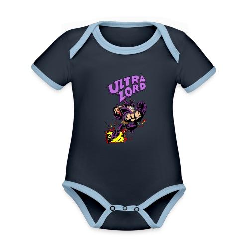 Sheen s Ultra Lord - Vauvan kontrastivärinen, lyhythihainen luomu-body