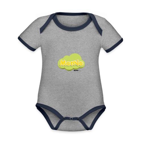 Logo van Momio - Baby contrasterend bio-rompertje met korte mouwen