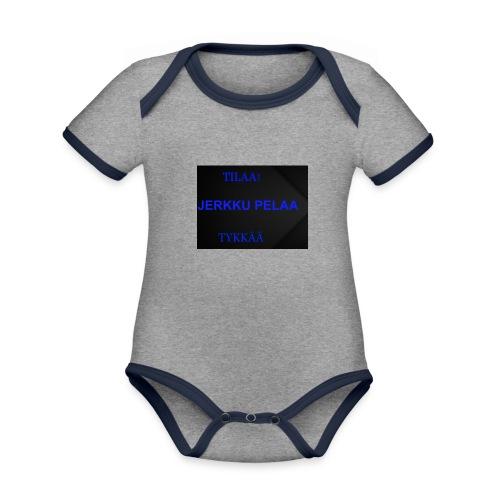 jerkku - Vauvan kontrastivärinen, lyhythihainen luomu-body
