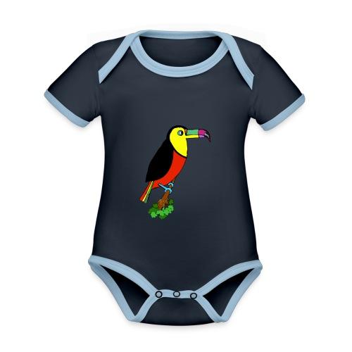Le toucan - Body Bébé bio contrasté manches courtes