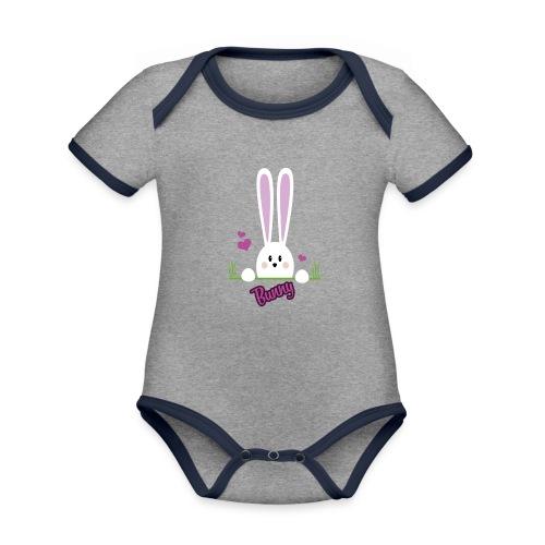 bunny girl - Baby Bio-Kurzarm-Kontrastbody