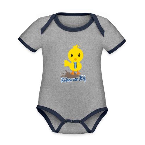 Küken am Hof, Design für Jungen - Baby Bio-Kurzarm-Kontrastbody