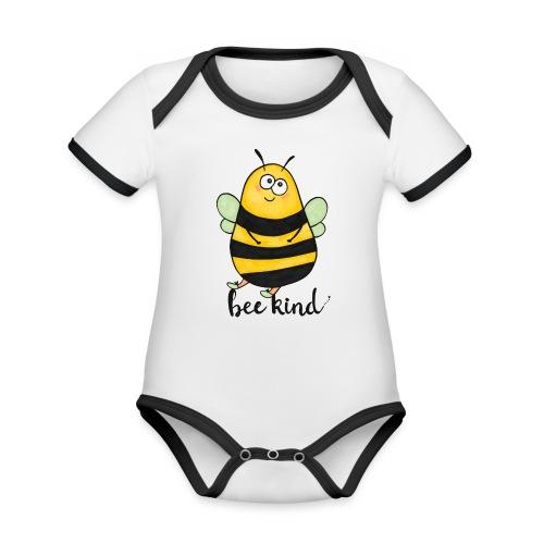 Bee kid - Organic Baby Contrasting Bodysuit