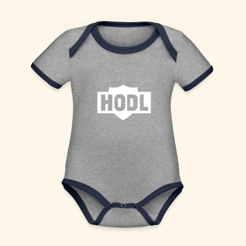 HODL TO THE MOON - Vauvan kontrastivärinen, lyhythihainen luomu-body