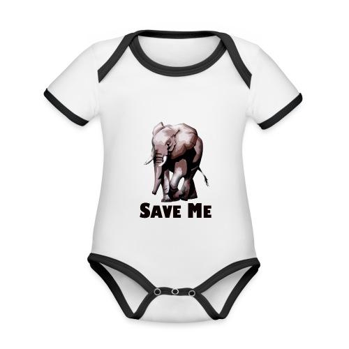 Elefant - SAVE ME - Baby Bio-Kurzarm-Kontrastbody
