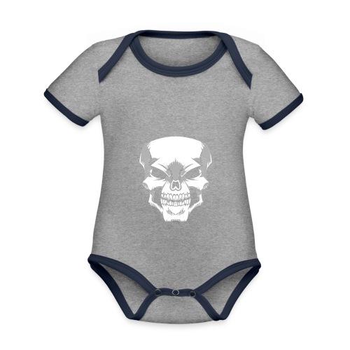 Skull - Body contraste para bebé de tejido orgánico