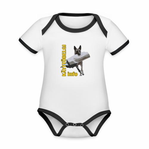 Käyttöbelgi.infon logotuotteet - Vauvan kontrastivärinen, lyhythihainen luomu-body