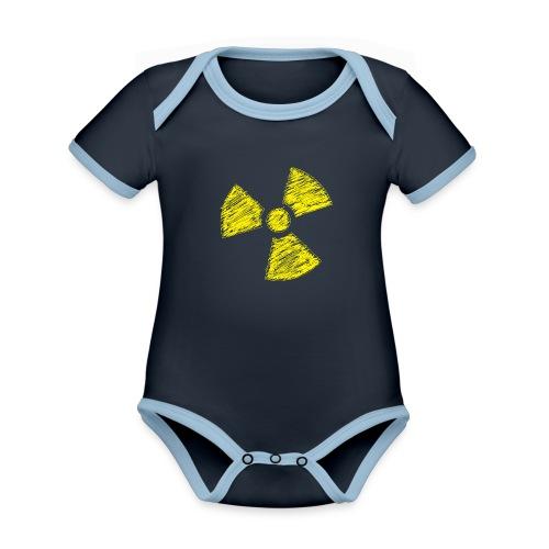 Radioactive - Baby contrasterend bio-rompertje met korte mouwen
