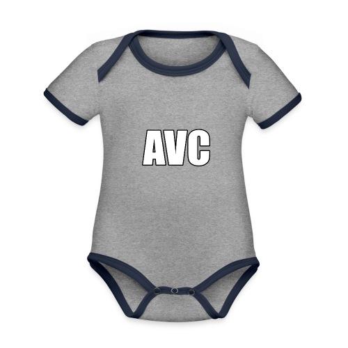 mer png - Baby contrasterend bio-rompertje met korte mouwen