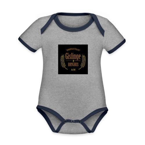 Sort logo 2017 - Kortærmet økologisk babybody i kontrastfarver