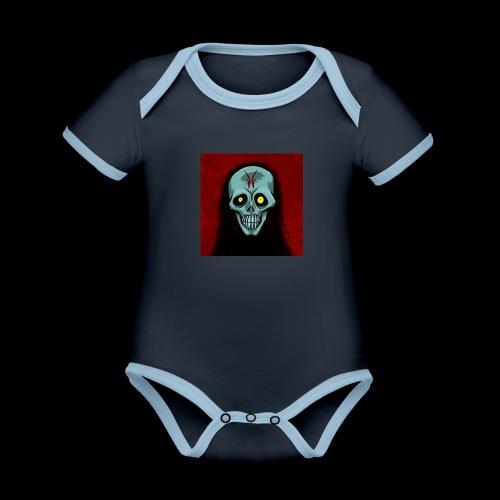 Ghost skull - Organic Baby Contrasting Bodysuit