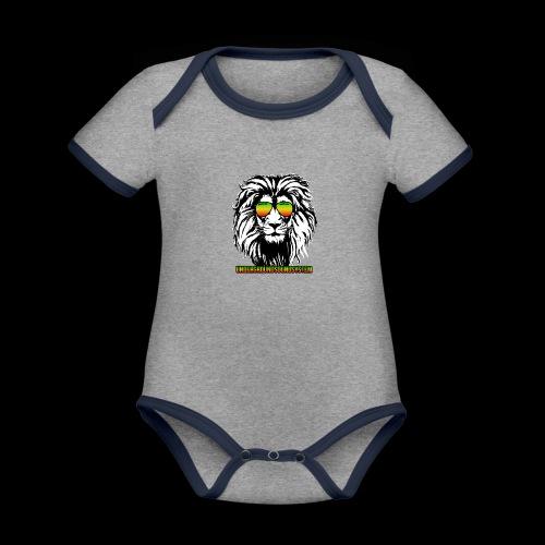RASTA REGGAE LION - Baby Bio-Kurzarm-Kontrastbody