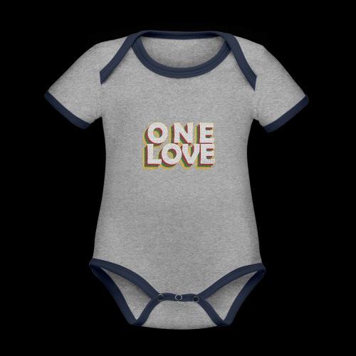 ONE LOVE - Baby Bio-Kurzarm-Kontrastbody
