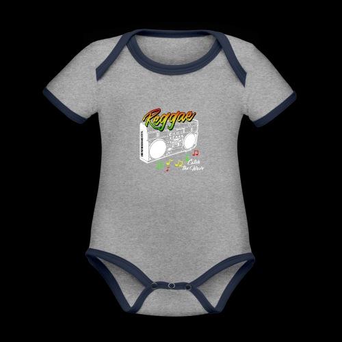 Reggae - Catch the Wave - Baby Bio-Kurzarm-Kontrastbody