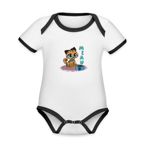 Miau - Baby Bio-Kurzarm-Kontrastbody