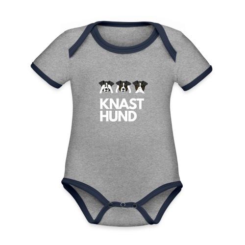 Knast Hund - Jack Russel - Baby Bio-Kurzarm-Kontrastbody