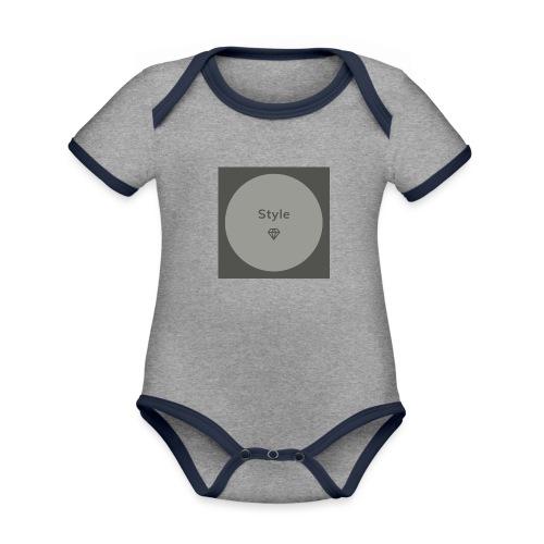 Style - Baby Bio-Kurzarm-Kontrastbody