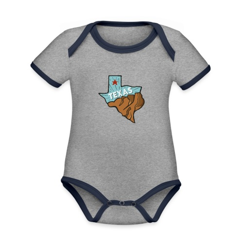 Texas - Baby Bio-Kurzarm-Kontrastbody