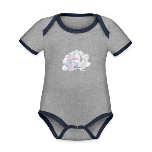 White Rose - Baby Bio-Kurzarm-Kontrastbody