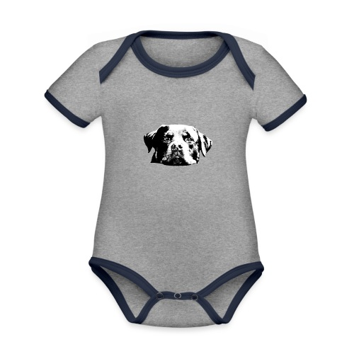 Rottweiler - Baby Bio-Kurzarm-Kontrastbody