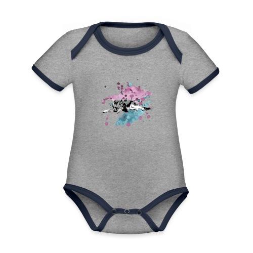 Shepherd Watercolor - Baby Bio-Kurzarm-Kontrastbody