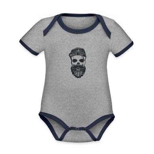 No Shave - Baby Bio-Kurzarm-Kontrastbody