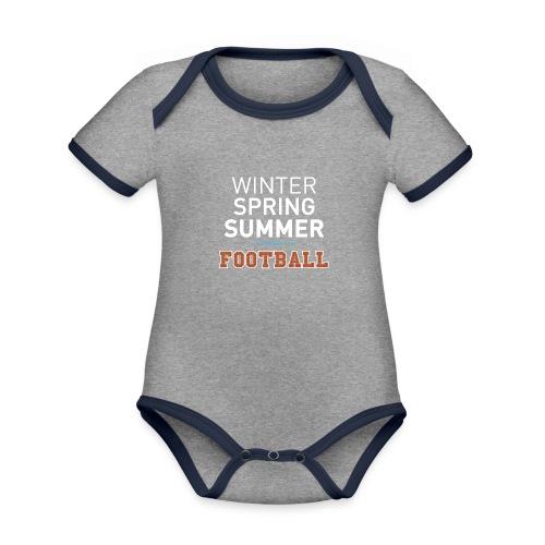 4 Seasons - American Football - Baby Bio-Kurzarm-Kontrastbody