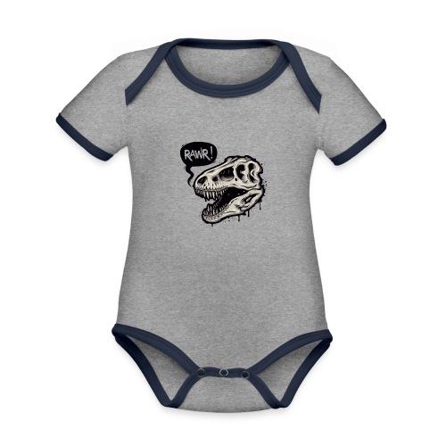 DINO RAWR 1 - Body contraste para bebé de tejido orgánico