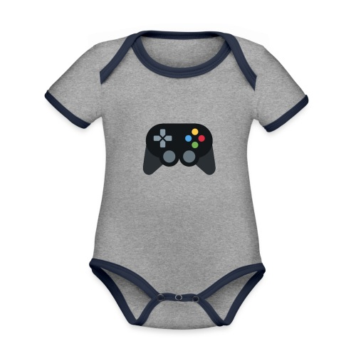 Spil Til Dig Controller Kollektionen - Kortærmet økologisk babybody i kontrastfarver