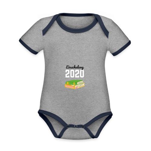 Einschulung 2020 - Baby Bio-Kurzarm-Kontrastbody