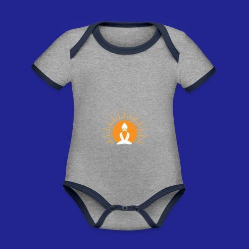 Guramylyfe logo white no text - Organic Baby Contrasting Bodysuit