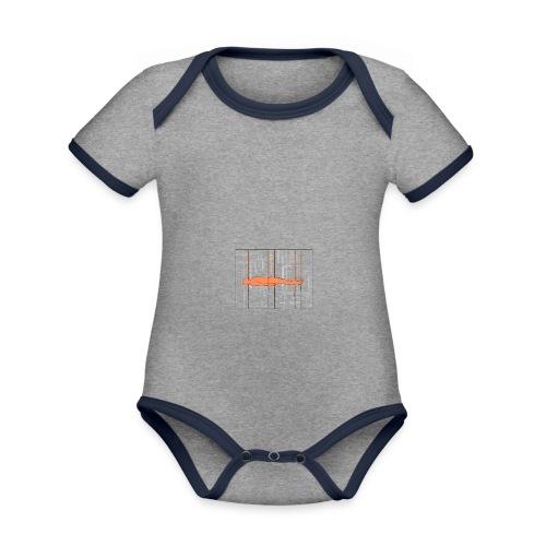 DIAGRAMME - Body Bébé bio contrasté manches courtes