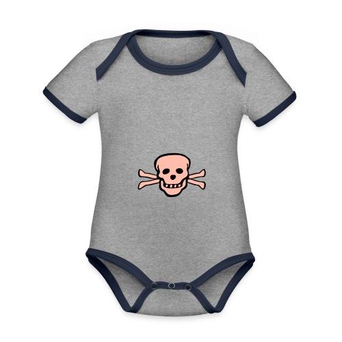 skull tattoo style - Baby Bio-Kurzarm-Kontrastbody